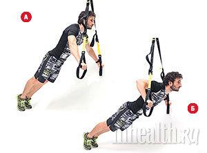 22 упражнения с ФОТО с тренировочными петлями TRX